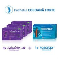 3 cutii Celadrin™ Extract Forte 60cps + 1 cutie RoboFlex™ 30cps (Pachet Coloana Forte®)